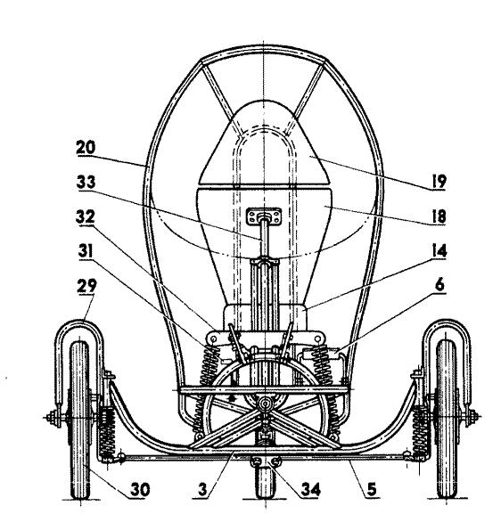 Компоновка трицикла (левое